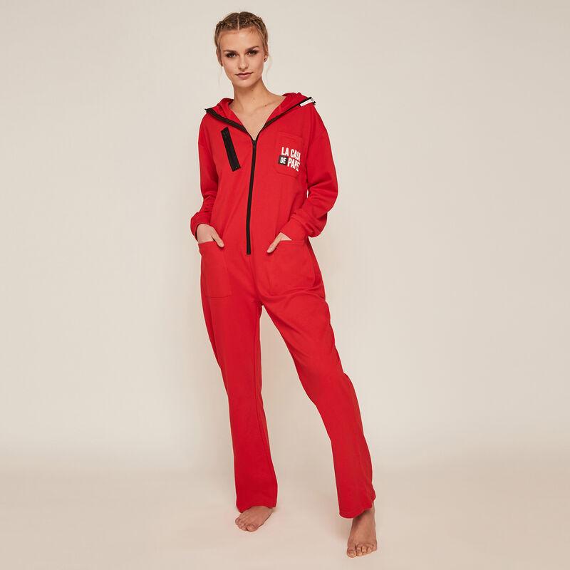 Combinaison pantalon Casa de Papel - rouge;
