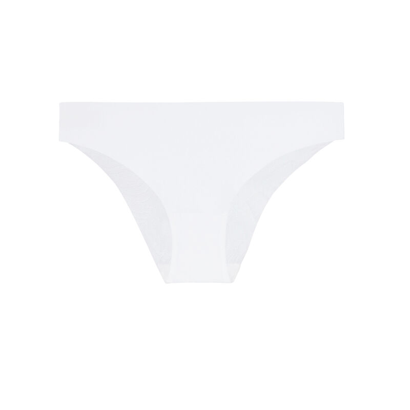 culotte en microfibre uni - blanc ;