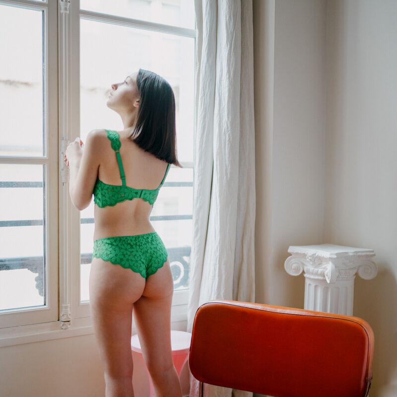 shorty dentelle - vert;