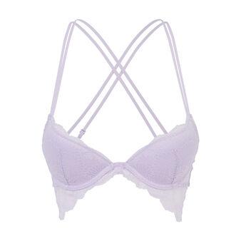 Soutien-gorge bustier push violet clair butterfliz purple.
