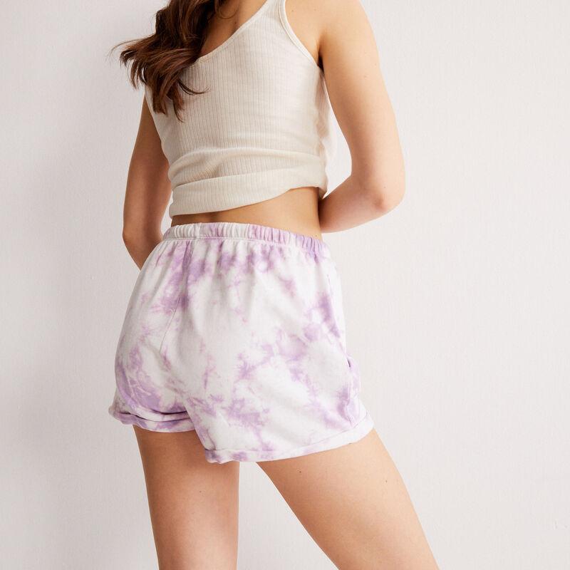 short effet tie and dye à détail cordon - lilas;