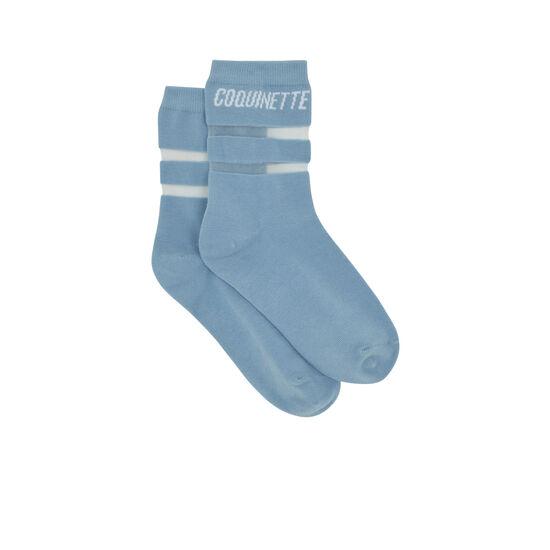 Chaussettes bleu pastel coquiniz;