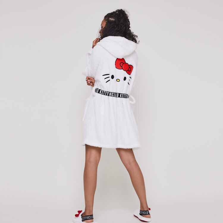 nouvelle version promotion sensation de confort Peignoir polaire broderie Hello Kitty kittiniz