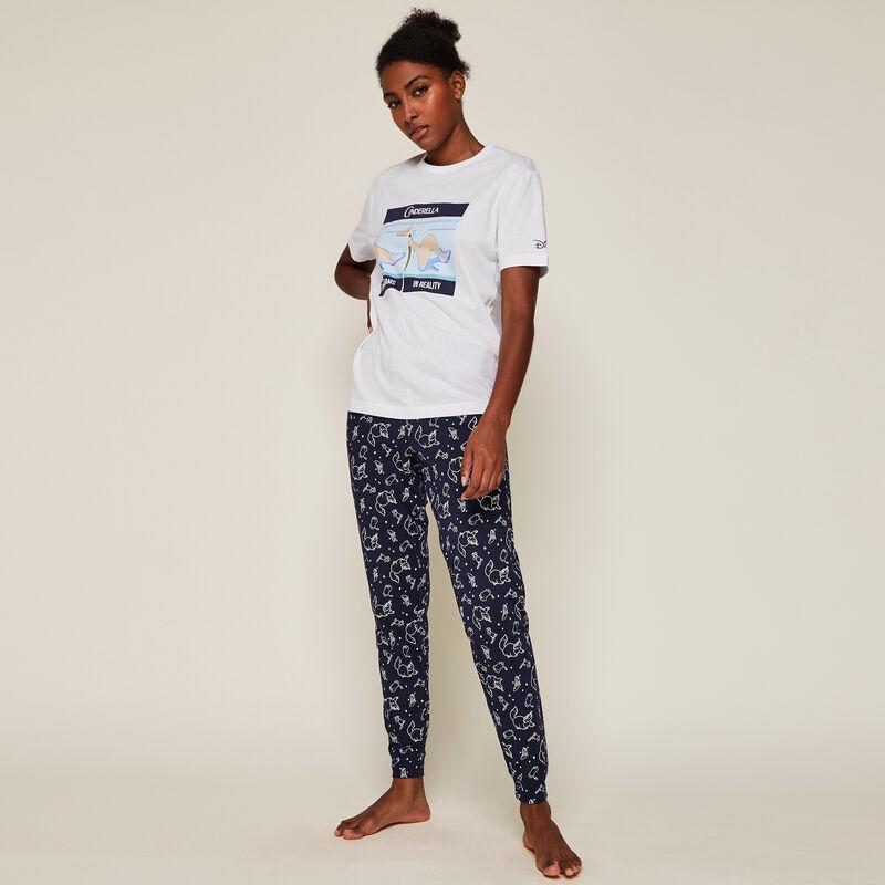 Pantalon à motifs licence Cendrillon ;