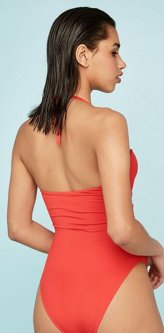 Maillot de bain une pièce rouge tamariz red.