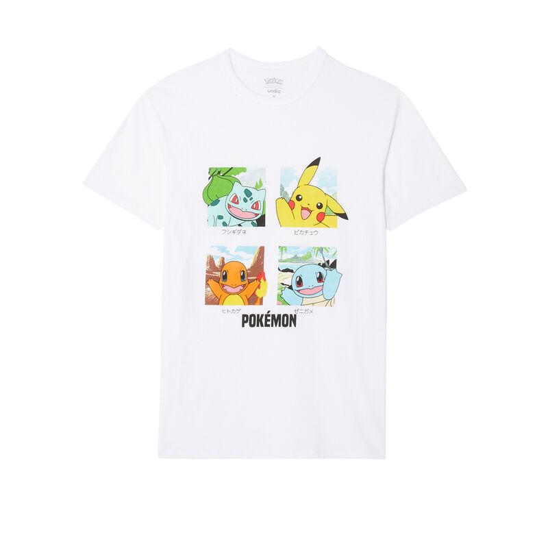 tee-shirt Pokémon - blanc;