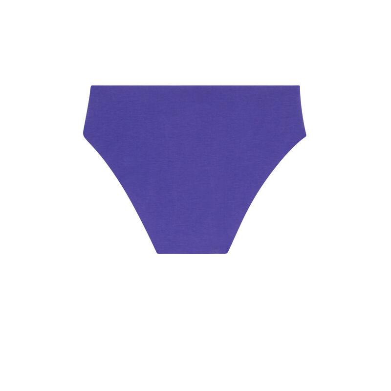 Shorty en coton uni - violet;