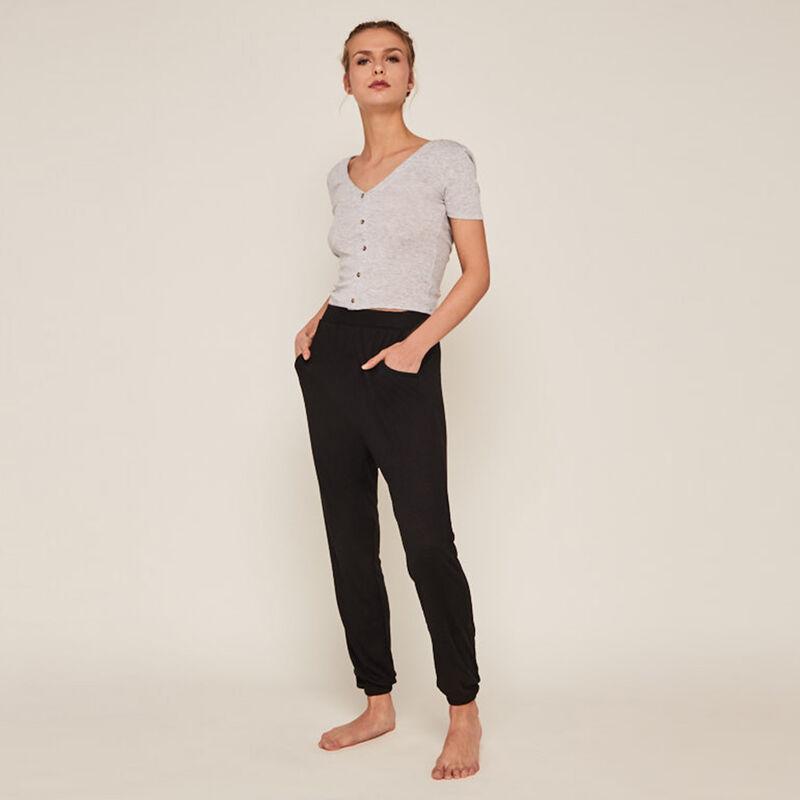pantalon à poches - noir ;
