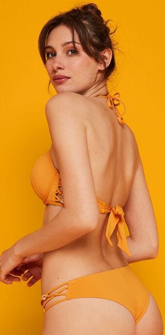 Haut de maillot de bain safran pachucaniz orange.