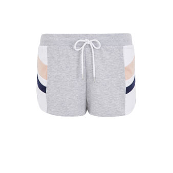 Short molletonne relouiz gris clair.