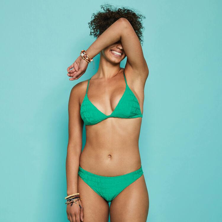 Bas de maillot de bain vert émeraude epongiz splashiz green.