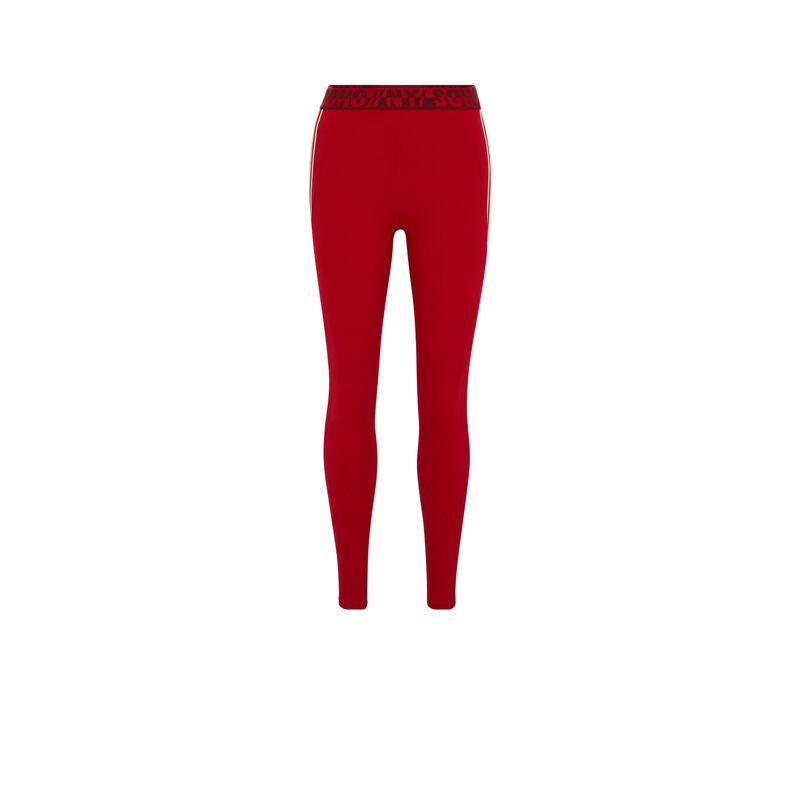 Legging de sport à bandes - rouge;