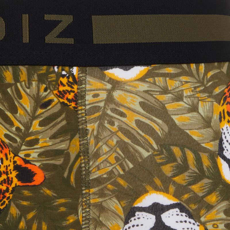 boxer coton à imprimé leopardiz;