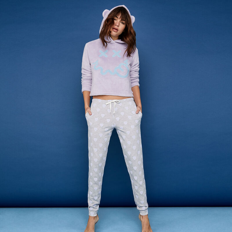 Pantalon gris clair herziz;