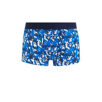 Boxer en coton print couronnes baskingiz bleu.