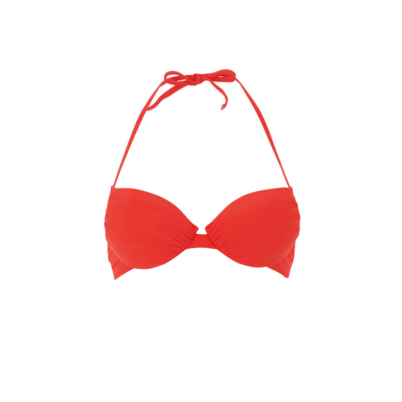 Haut de maillot de bain push-up - rouge;