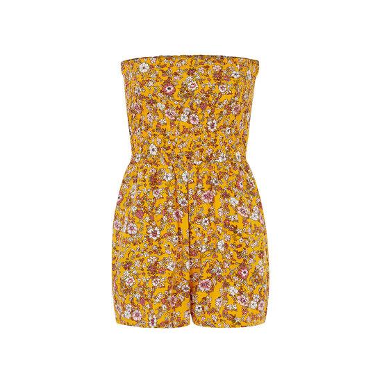 Combinaison short jaune moutarde tropiciz;