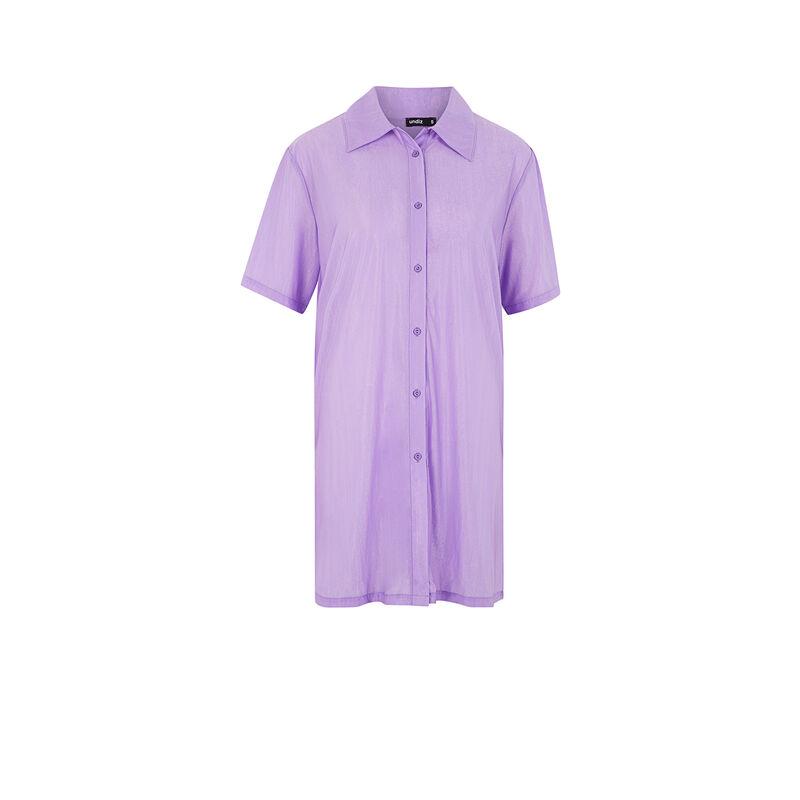 Robe manches courtes métalisée - lilas;