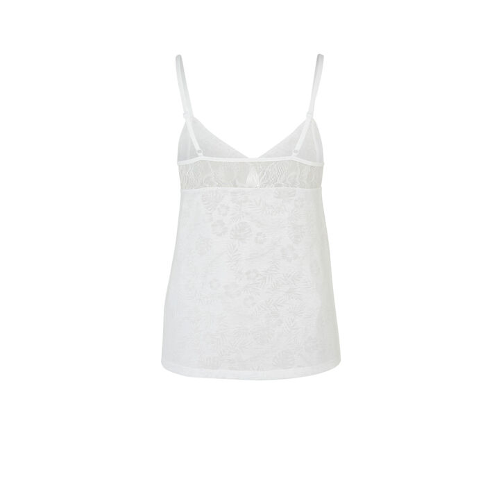 Top blanc tropaliz white.