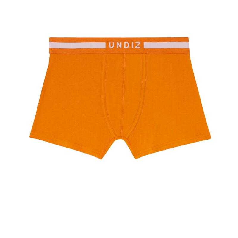boxer uni en coton - orange;