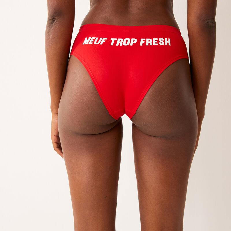 shorty imprimé meuf trop fresh - rouge;