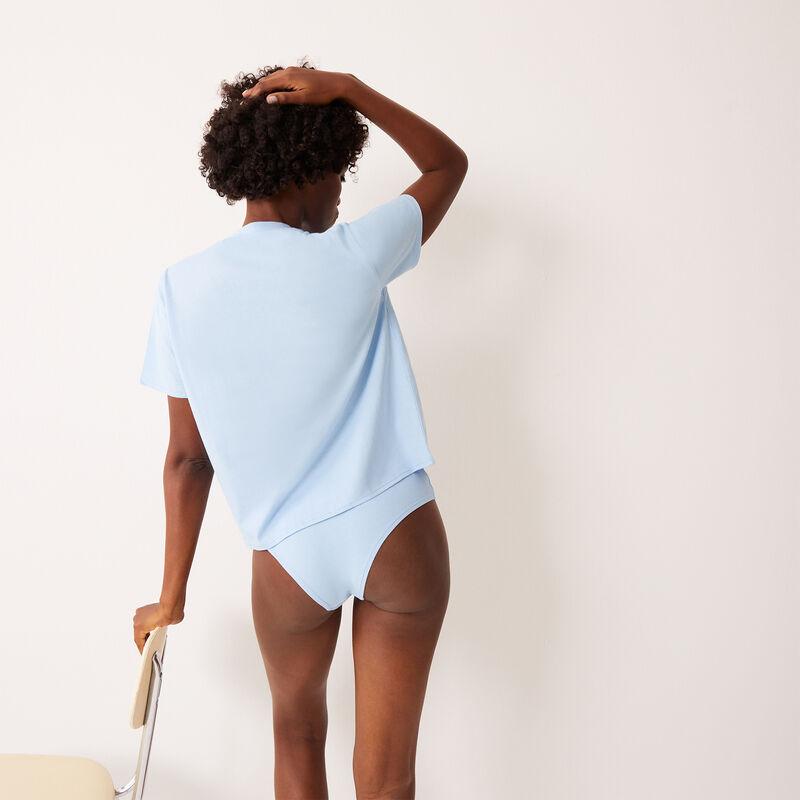 set top et culotte à imprimé couple Stitch - bleu;