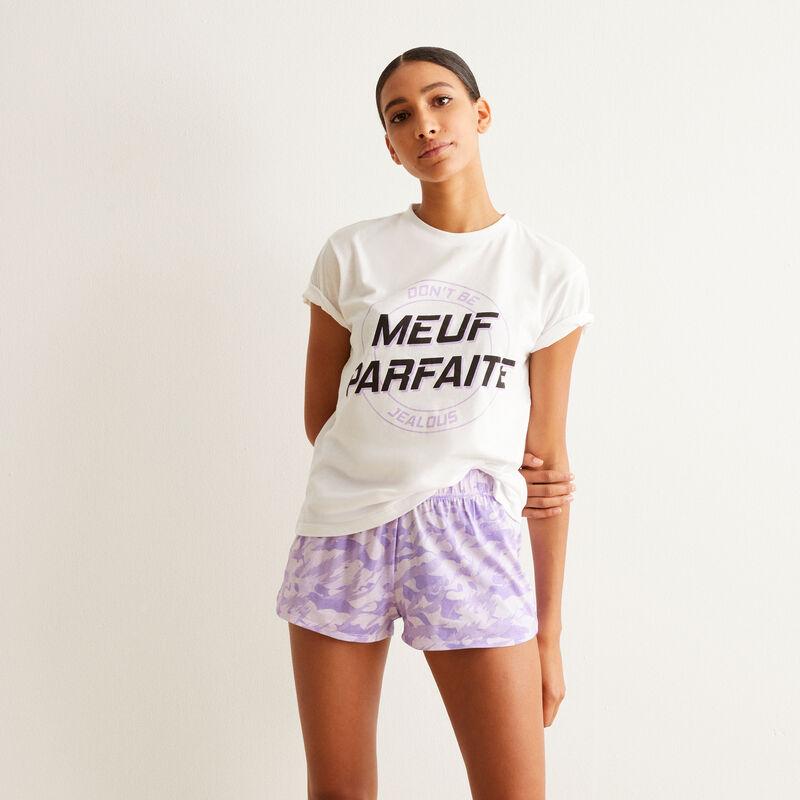 set de pyjama short meuf parfaite - violet;
