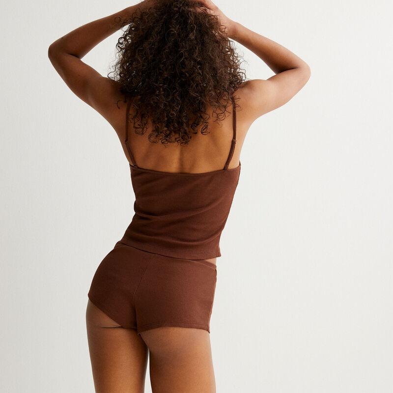 set de pyjama uni - marron;
