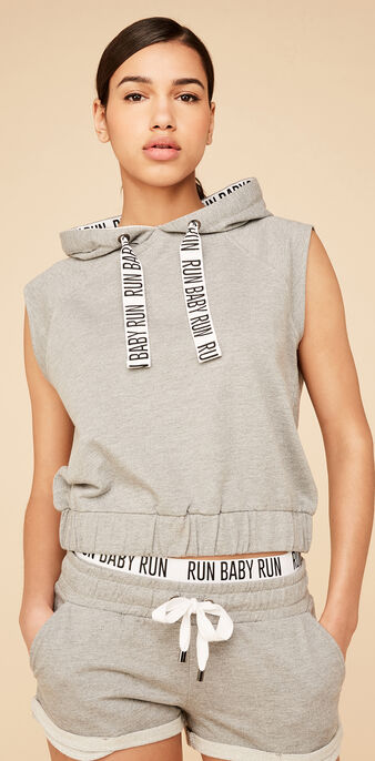 Sweat gris runniz  grey.
