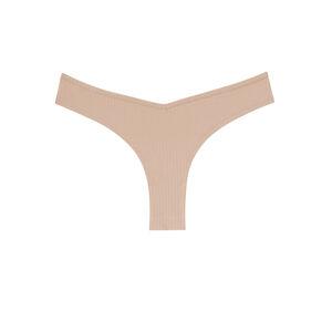 culotte en coton uni - nude