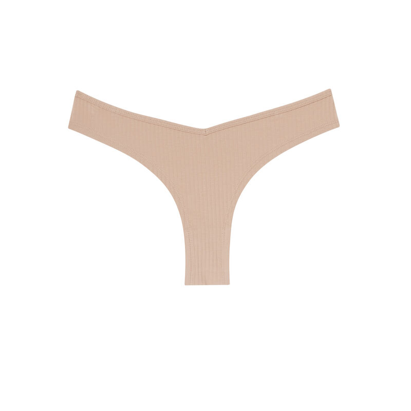 culotte en coton uni - nude;
