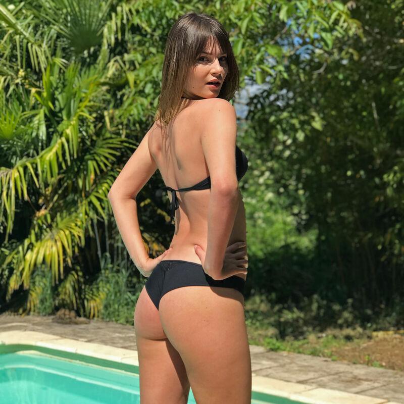 Bas de maillot de bain tanga - noir;