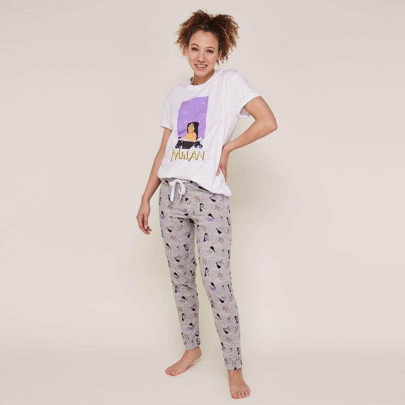 Pantalon imprimé Mulan - gris;