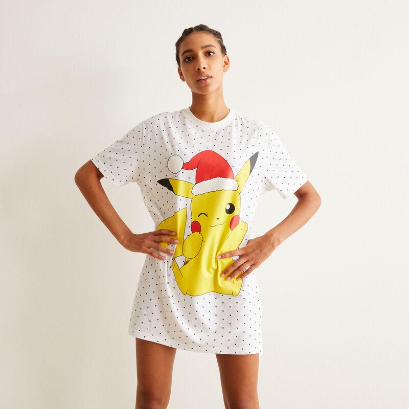 set pyjama tunique et shorty Pikachu - blanc;