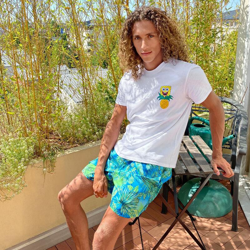 T-shirt à manches courtes Bob l'éponge - blanc;