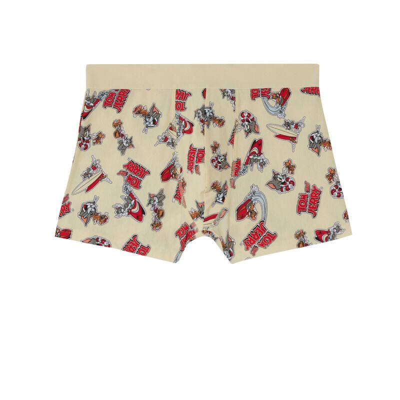 boxer à imprimé Tom and Jerry - écru;