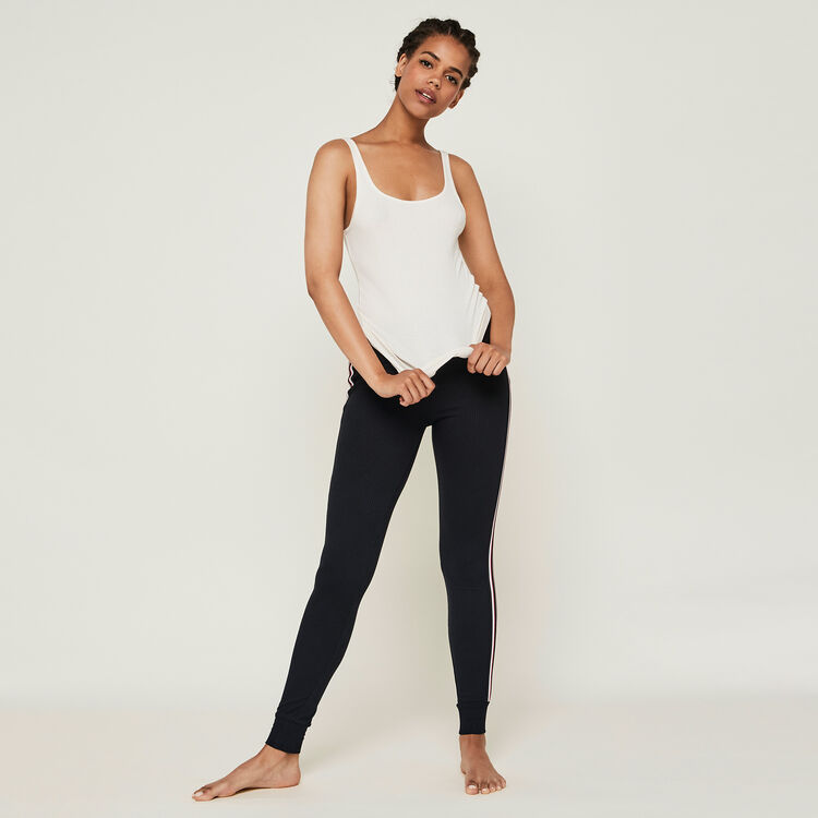 Pantalon jogging bandes laterales newazjiz noir.
