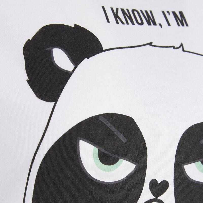 Top blanc pandacutiz;