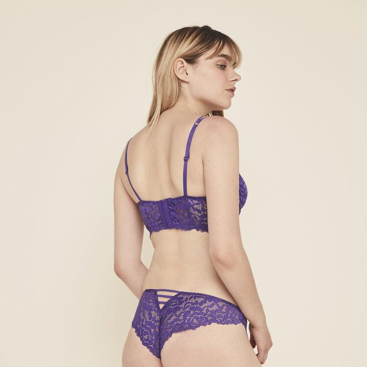 Soutien-gorge bustier ampli en dentelle luluiz violet.