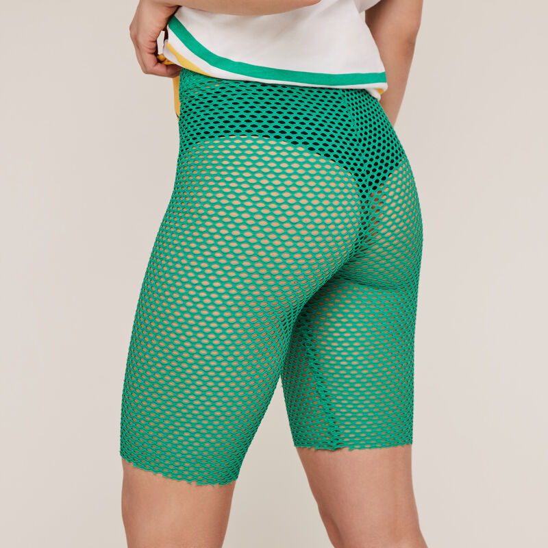 Cycliste en résille - vert ;