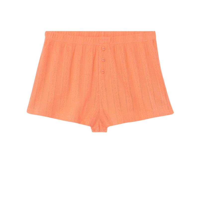 short uni maille pointelle - orange;