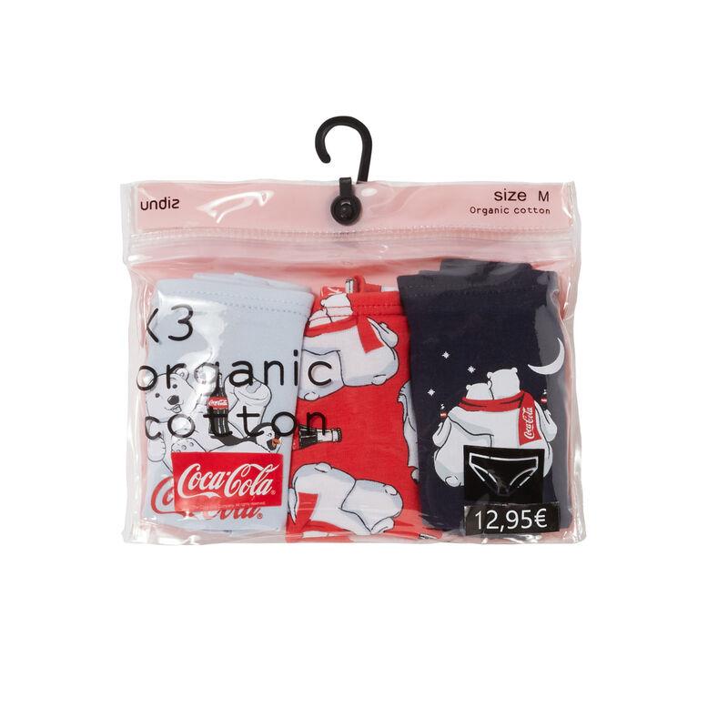 lot de 3 culottes mood coca-cola - bleu marine;