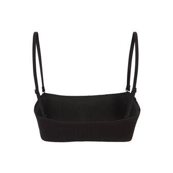 Haut de maillot de bain bandeau noir gaufriz black.