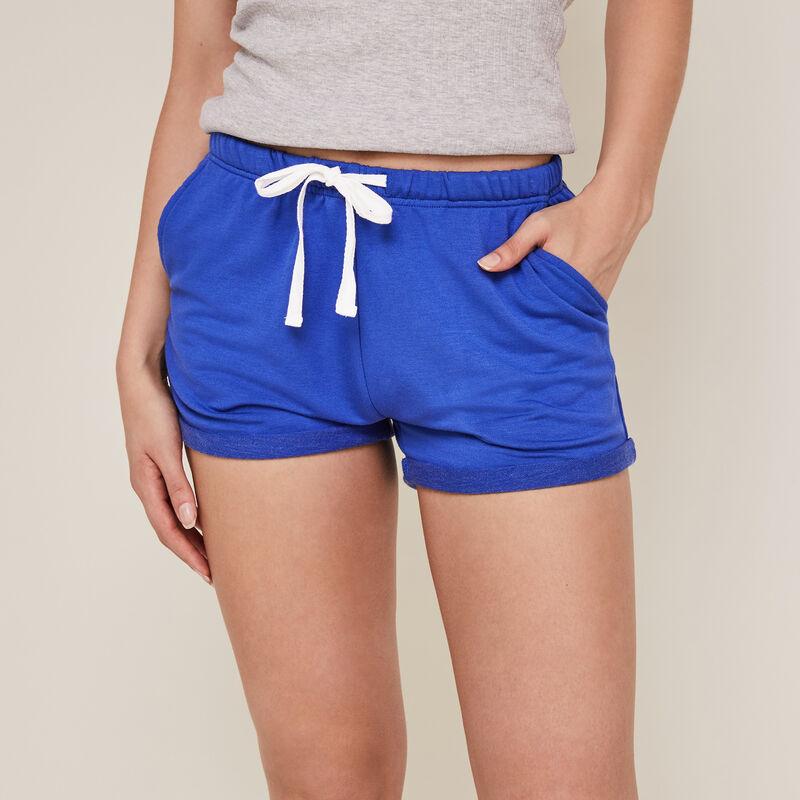Short uni en molleton - bleu ;