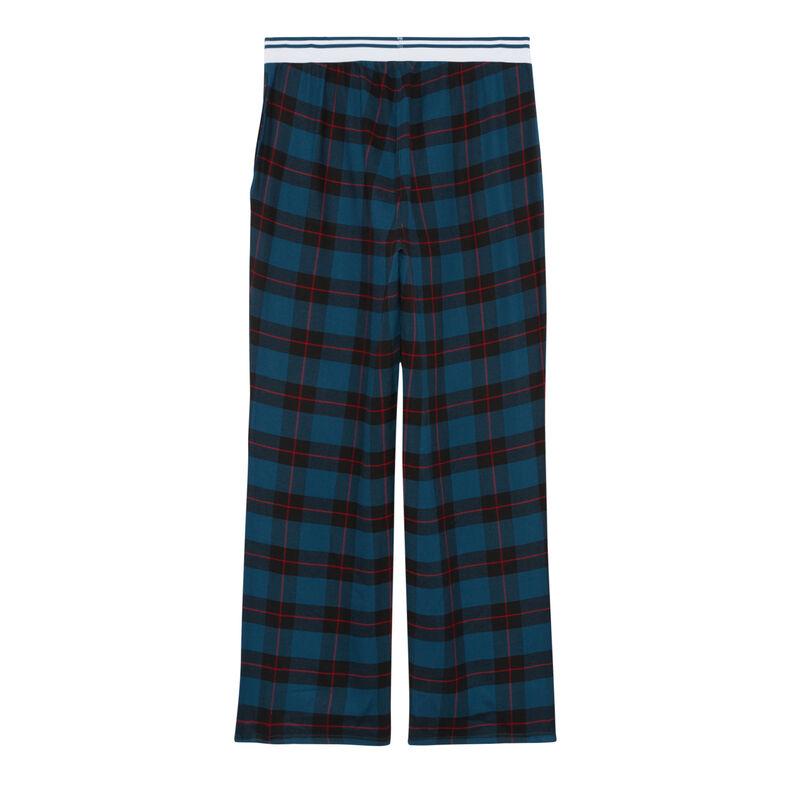 pantalon à grands carreaux - bleu;
