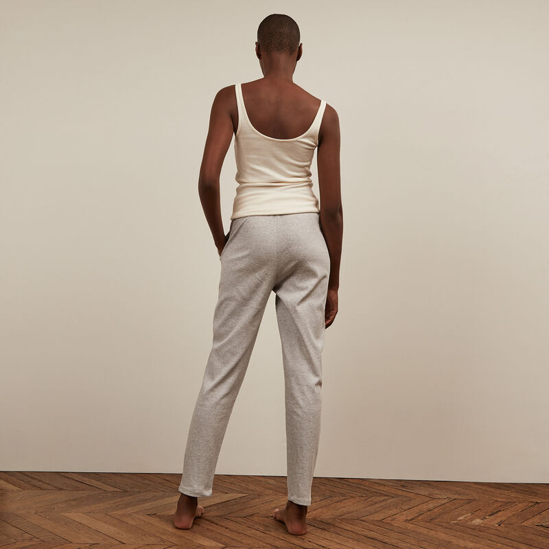 Pantalon en jersey - gris clair ;