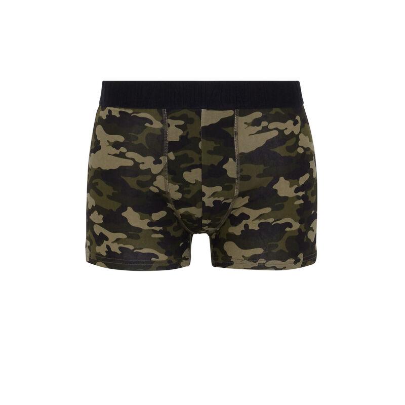 boxer en coton print camouflage camokakiz;