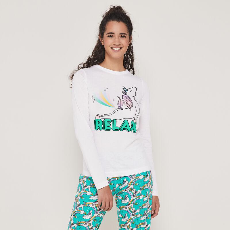 Set pyjama top + pantalon print licorne interlicornaxiz;