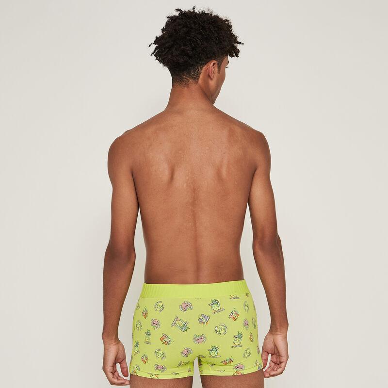 Boxer en coton imprimé fruits - jaune;