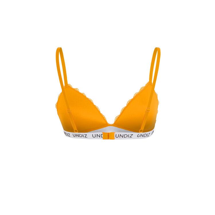 Soutien-gorge triangle safran secretiz laciz orange.